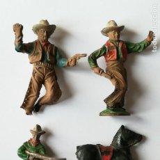 Figuras de Goma y PVC: LOTE FIGURAS GOMA LAFREDO SERIE OESTE VAQUEROS COWBOYS . Lote 154529278