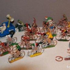 Figuras de Goma y PVC: GRAN LOTE DE CICLISTAS JEEP Y MOTO SOTORRES AÑOS 60-70 BARATO. Lote 154542030