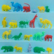 Figuras de Goma y PVC: FIGURAS DUNKIN - LOTE ANIMALES VARIOS - 21 FIGURAS. Lote 219000240