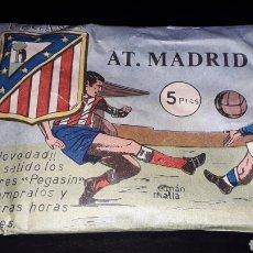 Figuras de Goma y PVC: SOBRE PEGASIN ATLÉTICO DE MADRID, FÚTBOL, TIPO MONTAPLEX, NUNCA ABIERTO, AÑOS 60.. Lote 154651938