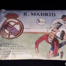 Figuras de Goma y PVC: SOBRE PEGASIN REAL MADRID, FÚTBOL, TIPO MONTAPLEX, NUNCA ABIERTO, AÑOS 60.. Lote 154652490