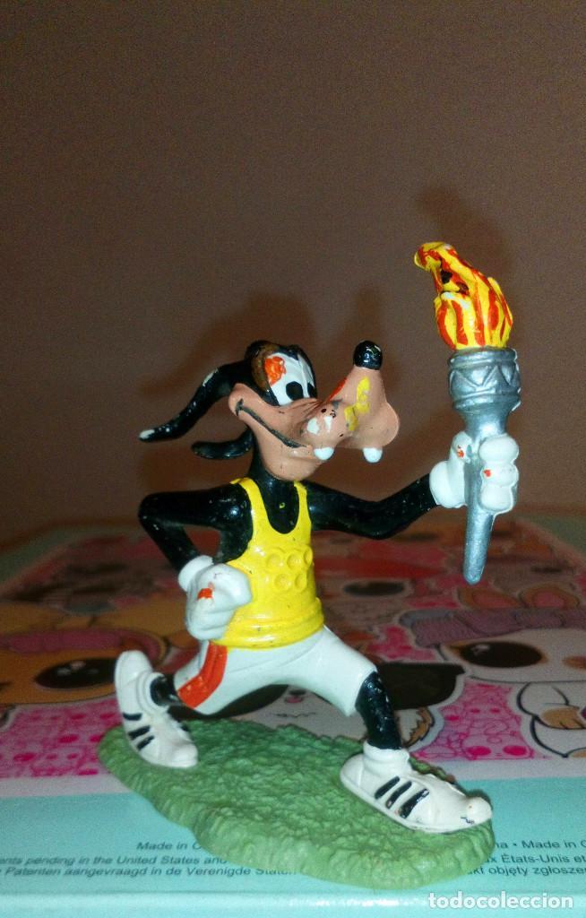 FIGURA PVC GOOFY CON LA ANTORCHA OLIMPICA, DE WALT DISNEY - COMICS SPAIN, AÑOS 80S (Juguetes - Figuras de Goma y Pvc - Comics Spain)