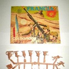 Figuras de Goma y PVC: MONTAPLEX SOBRE Nª 106 FRANCIA COMBATIENTES VACÍO + 1 COLADA DE SOLDADOS FRANCESES. Lote 154822402