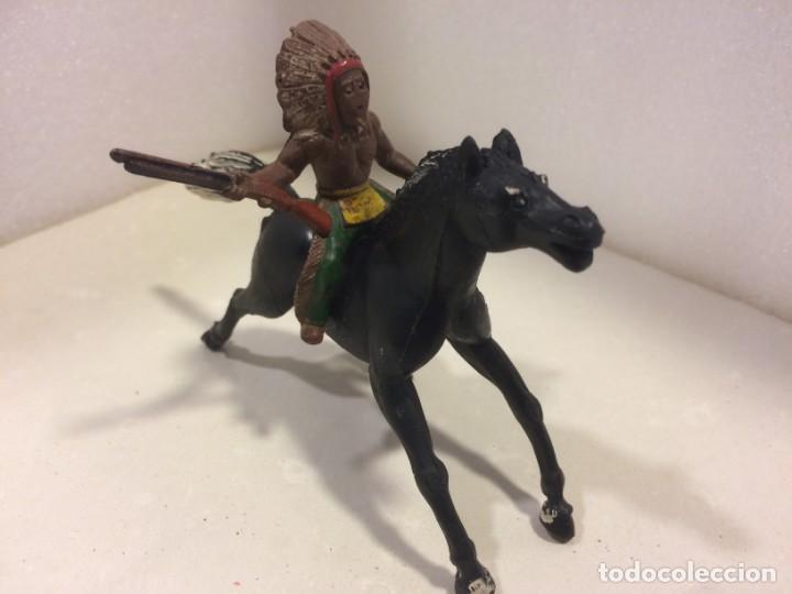 SOTORRES - JINETE INDIO GOMA (Juguetes - Figuras de Goma y Pvc - Sotorres)