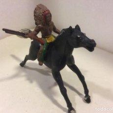 Figuras de Goma y PVC: SOTORRES - JINETE INDIO GOMA . Lote 154827026