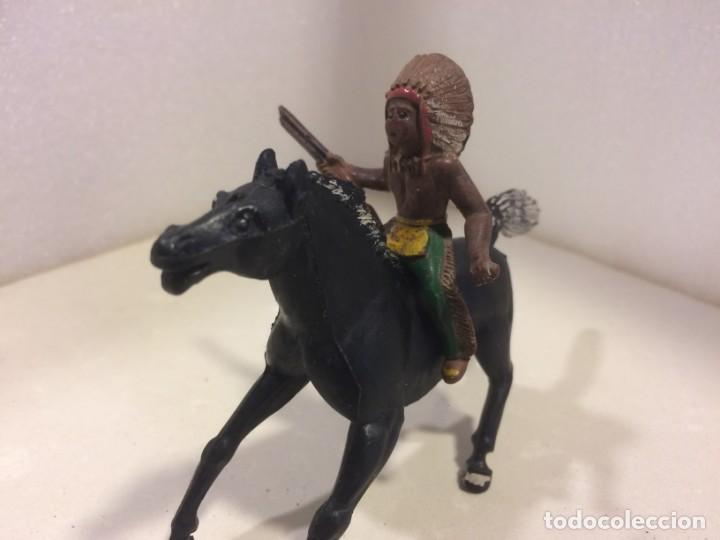 Figuras de Goma y PVC: Sotorres - Jinete Indio Goma - Foto 2 - 154827026