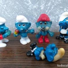 Figuras de Goma y PVC: LOTE 5 FIGURAS PITUFO PITUFOS TIPO KINDER. Lote 171574230
