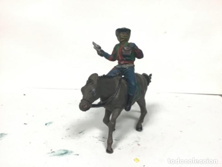 FIGURA VAQUERO AÑOS 50 GOMA PECH HERMANOS LADRON COWBOY OESTE HERMANOS PECH (Juguetes - Figuras de Goma y Pvc - Pech)