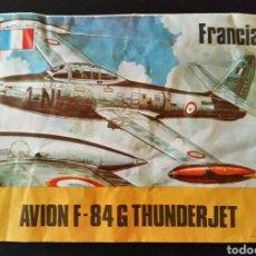 Figuras de Goma y PVC: SOBRE CERRADO AVION F-84G THUNDERJET MAPRA BARCELONA TIPO MONTAPLEX. Lote 155062626
