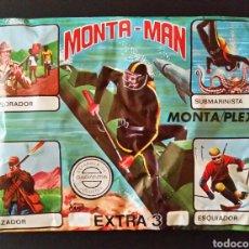 Figuras de Goma y PVC: SOBRE CERRADO MONTA-MAN EXTRA 3 MONTAPLEX. Lote 195927148