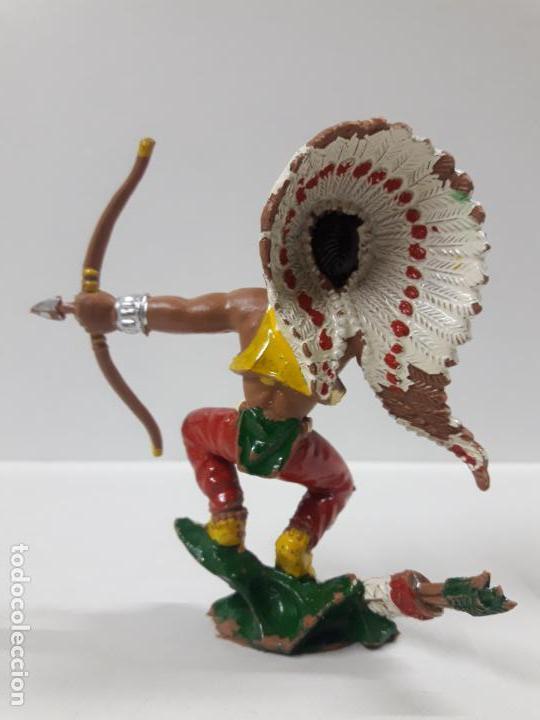 Figuras de Goma y PVC: GUERRERO INDIO . REALIZADO POR LAFREDO . AÑOS 60 . SERIE GRANDE - Foto 2 - 155289266