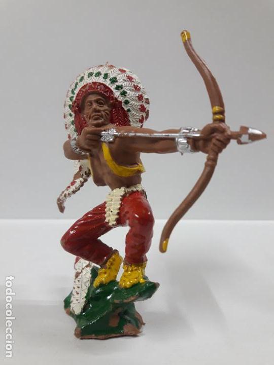 Figuras de Goma y PVC: GUERRERO INDIO . REALIZADO POR LAFREDO . AÑOS 60 . SERIE GRANDE - Foto 3 - 155289266