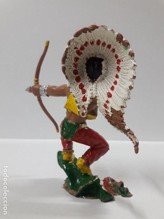 Figuras de Goma y PVC: GUERRERO INDIO . REALIZADO POR LAFREDO . AÑOS 60 . SERIE GRANDE - Foto 4 - 155289266