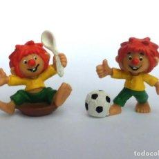 Figuras de Goma y PVC: LOTE ANTIGUAS FIGURAS EN GOMA PVC PUMUKI BULLY BULLYLAND WEST GERMANY 1983. Lote 155321822