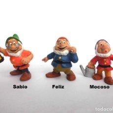 Figuras de Goma y PVC: LOTE ANTIGUAS FIGURAS EN GOMA PVC BLANCANIEVES Y LOS 7 ENANITOS DISNEY BULLY BULLYLAND 1982. Lote 155321982