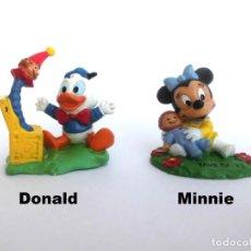 Figuras de Goma y PVC: LOTE ANTIGUAS FIGURAS EN GOMA PVC DISNEY BABIES MINNIE Y DONALD BULLY BULLYLAND WEST GERMANY 1987. Lote 155322054