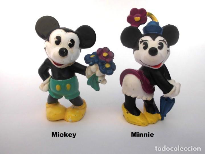 Figuras de Goma y PVC: LOTE ANTIGUAS FIGURAS EN GOMA PVC DISNEY MICKEY Y MINNIE BULLY BULLYLAND WEST GERMANY 1986 - Foto 1 - 155322626