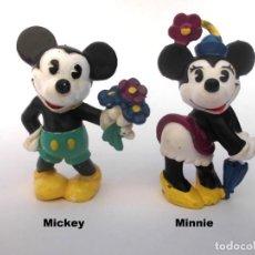 Figuras de Goma y PVC: LOTE ANTIGUAS FIGURAS EN GOMA PVC DISNEY MICKEY Y MINNIE BULLY BULLYLAND WEST GERMANY 1986. Lote 155322626