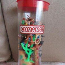 Figuras de Goma y PVC: CAJA COMANSI INDIOS VAQUEROS. Lote 155345034
