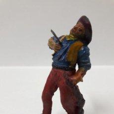 Figuras de Goma y PVC: VAQUERO - COWBOY HERIDO . REALIZADO POR PECH . AÑOS 50 EN GOMA. Lote 155381742
