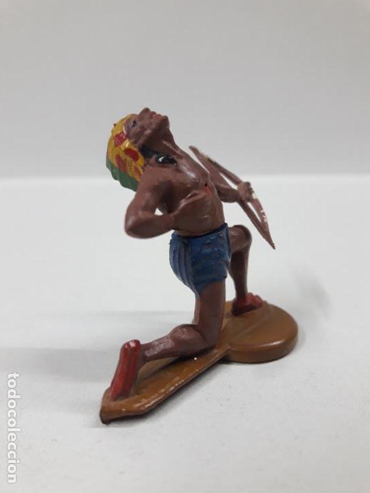 Figuras de Goma y PVC: GUERRERO INDIO HERIDO CON ARCO . REALIZADO POR GAMA . AÑOS 50 - Foto 4 - 155400358