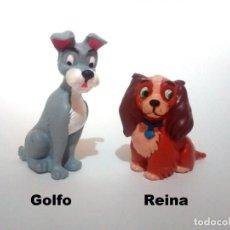 Figuras de Goma y PVC: LOTE ANTIGUAS FIGURAS EN GOMA PVC COMICS SPAIN 1985 DISNEY LA DAMA Y EL VAGABUNDO COLECCION COMPLETA. Lote 155401398