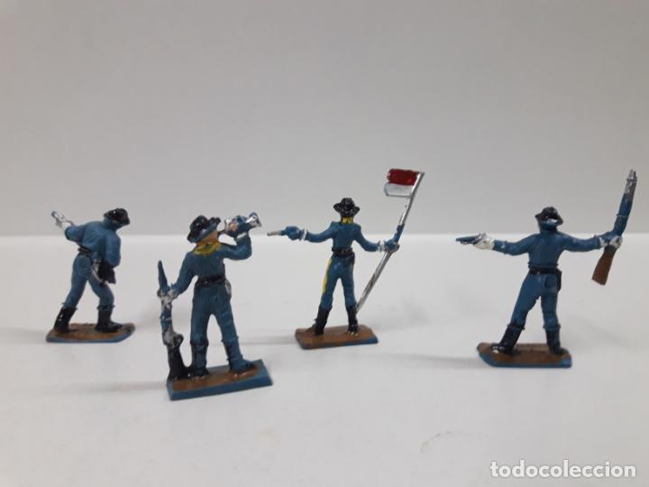 Figuras de Goma y PVC: SOLDADOS FEDERALES - SEPTIMO DE CABALLERIA . REALIZADOS POR COMANSI . MINI OESTE . AÑOS 60 - Foto 3 - 155475834