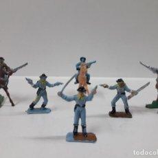 Figuras de Goma y PVC: SOLDADOS FEDERALES - SEPTIMO DE CABALLERIA . REALIZADOS POR COMANSI . MINI OESTE . AÑOS 60. Lote 155476078