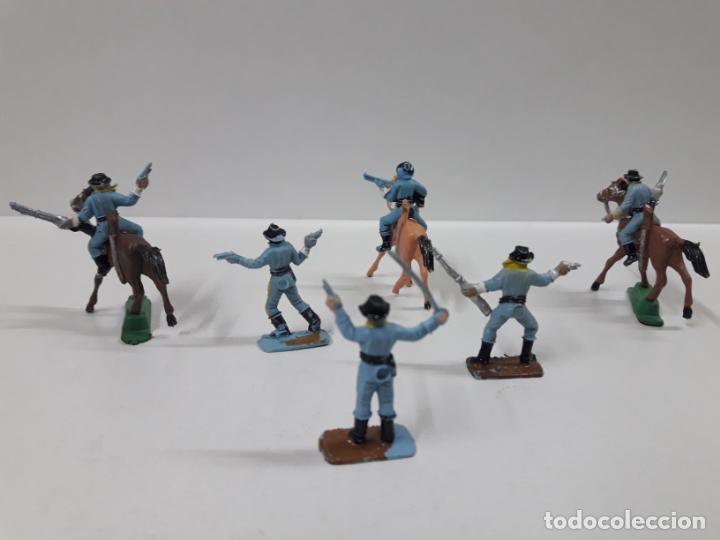 Figuras de Goma y PVC: SOLDADOS FEDERALES - SEPTIMO DE CABALLERIA . REALIZADOS POR COMANSI . MINI OESTE . AÑOS 60 - Foto 3 - 155476078