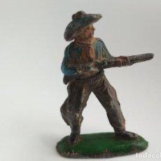 Figuras de Goma y PVC: FIGURA VAQUERO PECH GOMA. Lote 155620170