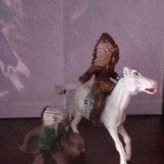 Figuras de Goma y PVC: FIGURAS DE PLÁSTICO LOTE 3 REAMSA COMANSI JECSAN INDIO OESTE. Lote 123417687
