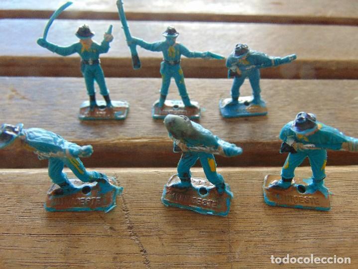 LOTE DE 6 SOLDADOS A PIE DEL MINI OESTE DE COMANSI (Juguetes - Figuras de Goma y Pvc - Comansi y Novolinea)