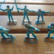 Figuras de Goma y PVC: LOTE DE 6 SOLDADOS A PIE DEL MINI OESTE DE COMANSI . Lote 155660954
