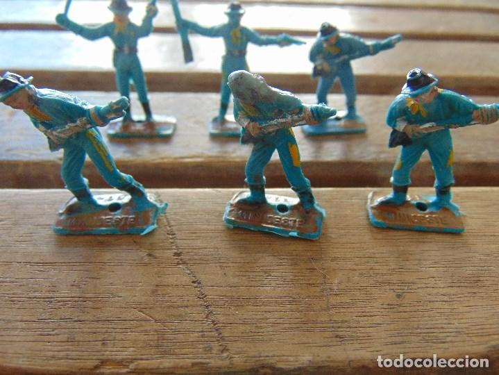Figuras de Goma y PVC: LOTE DE 6 SOLDADOS A PIE DEL MINI OESTE DE COMANSI - Foto 2 - 155660954