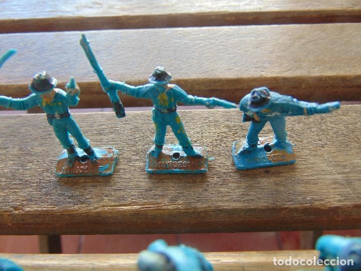 Figuras de Goma y PVC: LOTE DE 6 SOLDADOS A PIE DEL MINI OESTE DE COMANSI - Foto 3 - 155660954