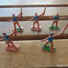 Figuras de Goma y PVC: LOTE DE 5 SOLDADOS A PIE DEL MINI OESTE DE COMANSI . Lote 155661578