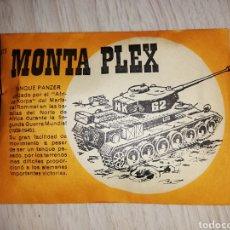Figuras de Goma y PVC: MONTAPLEX TANQUE PANZER. Lote 155684306