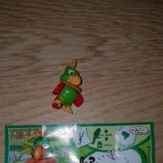 Figuras Kinder: FIGURA KINDER LORO PLUMAS TERCIOPELO FF003 +BPZ MUÑECO NATOONS COLECCIÓN PREMIUM MONOBLOC. Lote 155711044