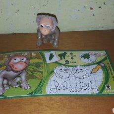 Figuras Kinder: FIGURA KINDER MONO MELENA TERCIOPELO FF004 +BPZ NATOONS MUÑECO COLECCIÓN PREMIUM MONOBLOC. Lote 155711126