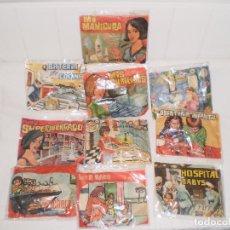 Figuras de Goma y PVC: LOTE DE 10 SOBRES SORPRESA NIÑA MONTAPLEX AÑOS 70 . Lote 155731696