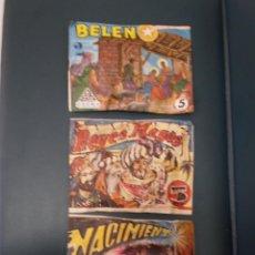 Figuras de Goma y PVC: LOTE TRES SOBRES MONTAPLEX NACIMIENTO BELEN Y REYES MAGOS AÑOS 60-70. Lote 155737486