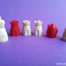 Figuras de Goma y PVC: LOTE DE 6 FIGURAS AJEDREZ CHICLES DUNKIN. PERFECTAS Y ORIGINALES AÑOS 70.. Lote 155851542