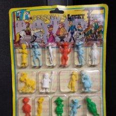 Figuras de Goma y PVC: PANOPLIA LUCKY LUKE 20 PERSONAJES. NUEVO Y NUNCA ABIERTO - COMANSI NOVOLINEA. Lote 155936762