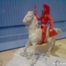 Figuras de Goma y PVC: COWBOY PISTOLA BOLSO DOLAR CABALLO GRAN TAMAÑO MONOCROMO. Lote 155970770