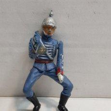 Figuras de Goma y PVC: FIGURA DE TEIXIDO ARTICULADA ESCOLTA DE GENERALÍSIMO CORNETA ESCASO Y BUSCADO. Lote 155994962