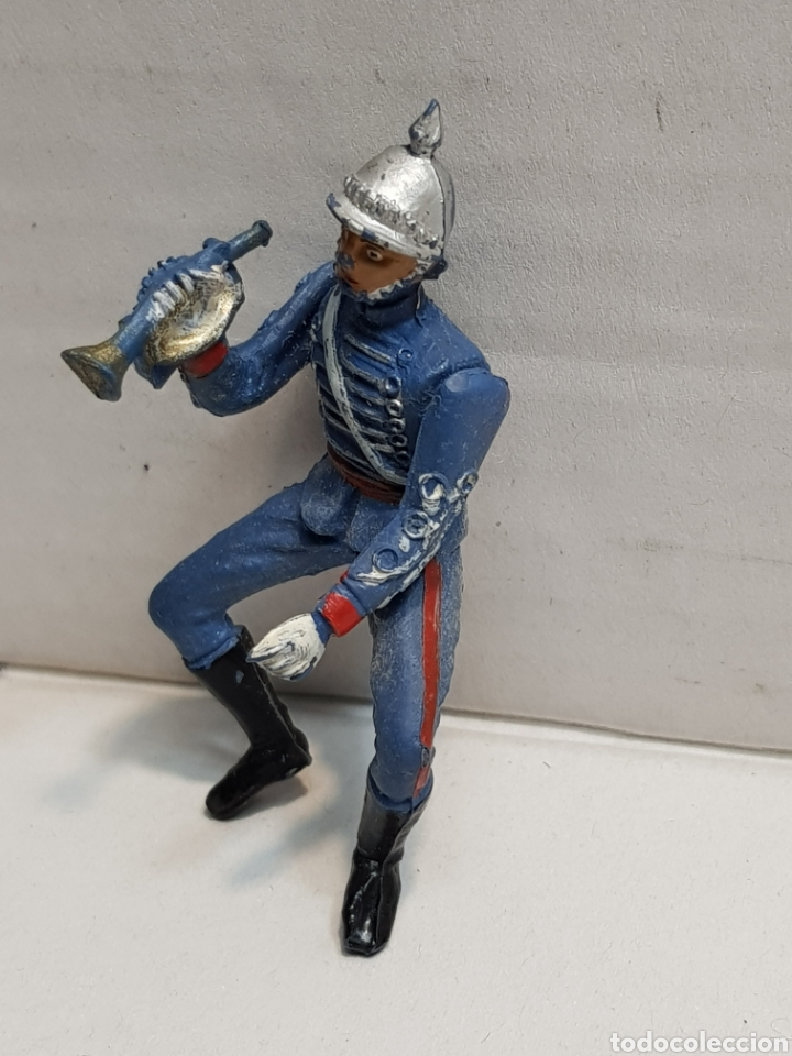 Figuras de Goma y PVC: Figura de Teixido articulada escolta de Generalísimo corneta escaso y buscado - Foto 3 - 155994962