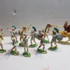 Figuras de Goma y PVC: FIGURAS ROJAS Y MARALET ROMANOS Y CARTAGINESES LOTE MUY COMPLETO Y ESCASO. Lote 155285636