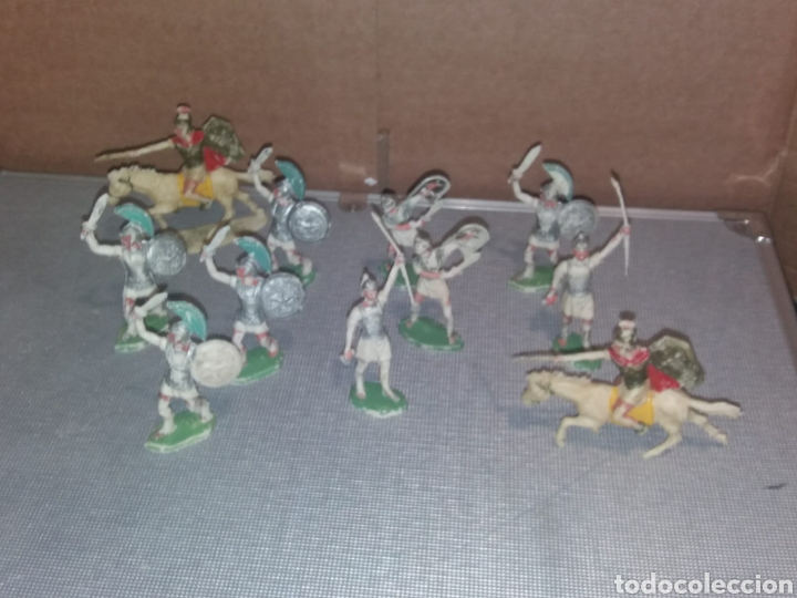 Figuras de Goma y PVC: Figuras Rojas y Maralet Romanos y Cartagineses lote muy completo y escaso - Foto 2 - 155285636