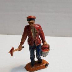 Figuras de Goma y PVC: FIGURA DE JECSAN SERIE CIRCO ENCARGADO DE MANTENIMIENTO. Lote 155997545