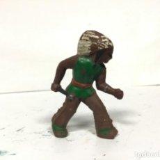 Figuras de Goma y PVC: FIGURA INDIO GOMA MAIRZA AÑOS 50 O AFRICANO ARCLA PECH. Lote 156010358